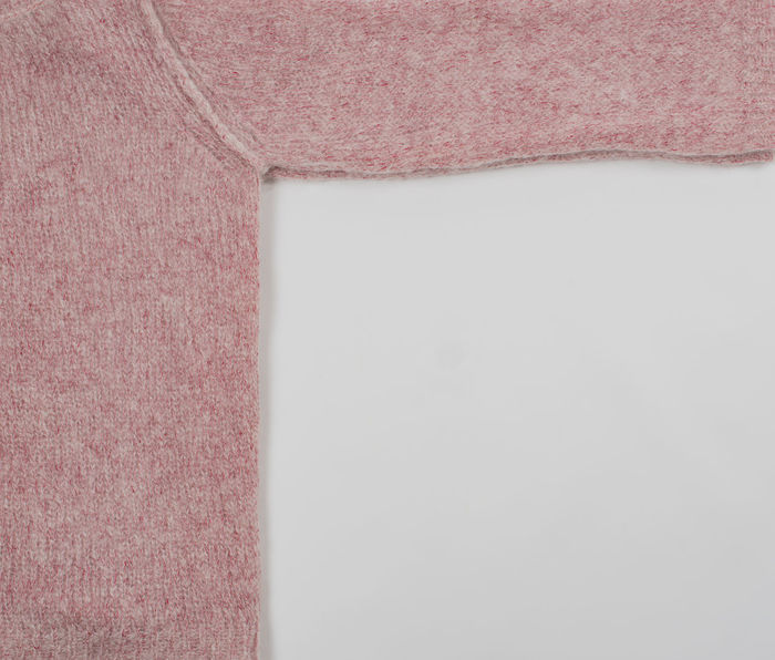 pink Mohair sweater on white background Autumn Fashion Homemade Knitting Winter Clothes Mohair Goat Mohair Sweater Mohair Wool Natural Fibers Softness Sweater Wool