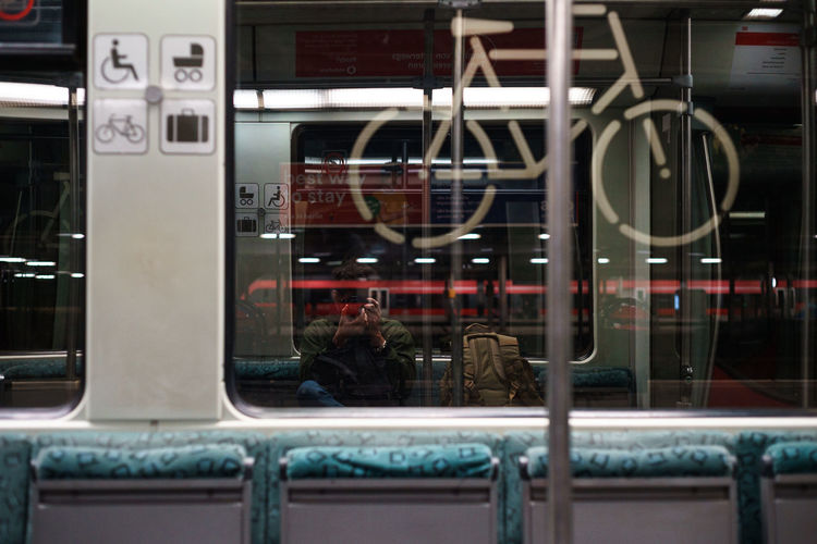 Traveling Adult Glass - Material Indoors  Lifestyles Men Mode Of Transportation People Public Transportation Reflection Seat Self Portrait Sitting Transparent Transportation Window My Best Travel Photo