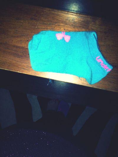 My socks have really shrunk.