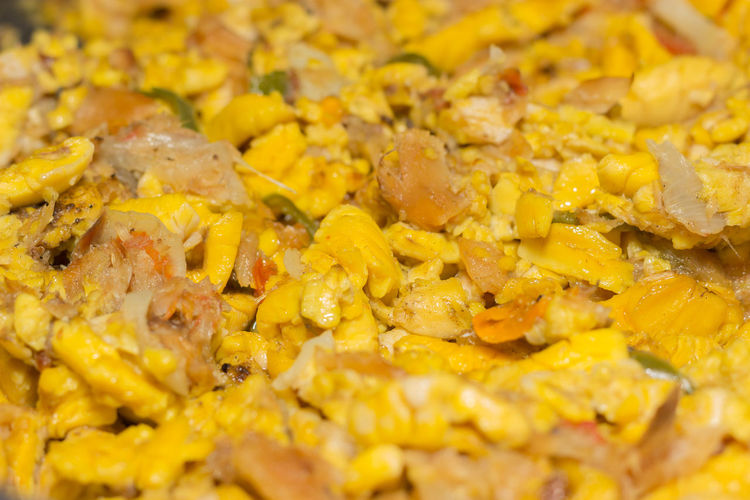 A Jamaican dish called Ackee & Saltfish. Ackee Cuisine EyeEm Food And Drink Jamaican Jamaican Food  SaltFish Tasty Dishes Achee Ackee And Saltfish Close-up Delicious Eyeem Food  Fish Food Food And Drink Foodies Foodphotography Fruit Photography Photographylovers Ready-to-eat Tasty