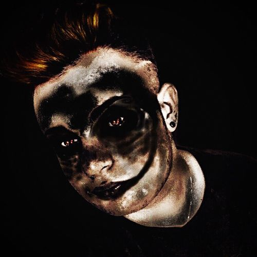 Black Background Night Crazy Villan Louis Martù Psycho Disorder Evil Dark Fear Bizarre Shock Horror Spooky