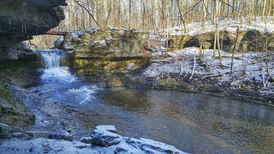 Yellow Springs Ohio Yellow Springs Ohio 937 Nature Photography Nature Cliff Waterfall Water Snow Ice Winter Hiking Hikingadventures