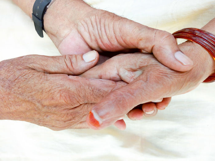 Human Hand Human Body Part Close-up People Adult Outdoors Fingernail Palm Day Adults Only Togetherness Couple Senior Couple Holding Hand Senior Adult Two People