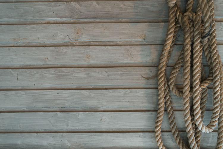 Full frame shot of wooden rope