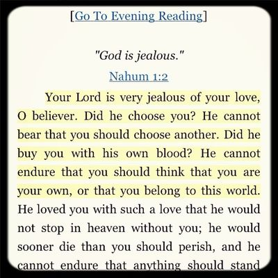 Morning and Evening- Spurgeon