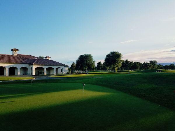 Golf Golfing Green Clubhouse Putting Green Las Vegas Golf Club