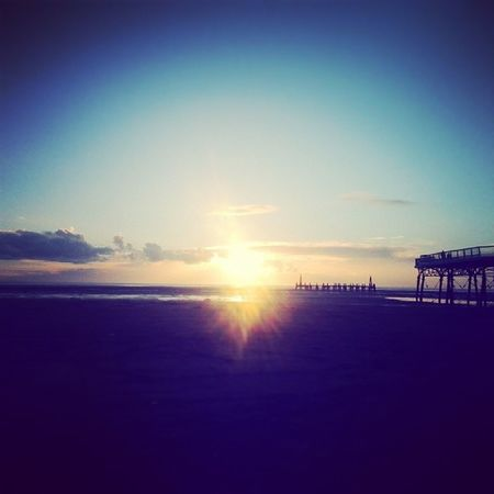 Nice crisp day out and about to see the sunset Lythamstannes Stannes Pier Beach sunset wintersday