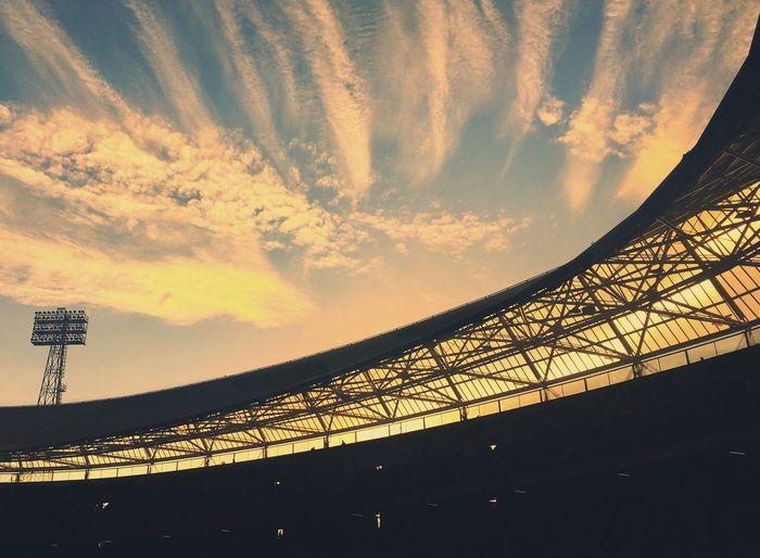 Built Structure Cloud - Sky Sunset Soccer Stadium De Kuip Rotterdam 010isntjustacode IPhoneography The Week On EyeEm