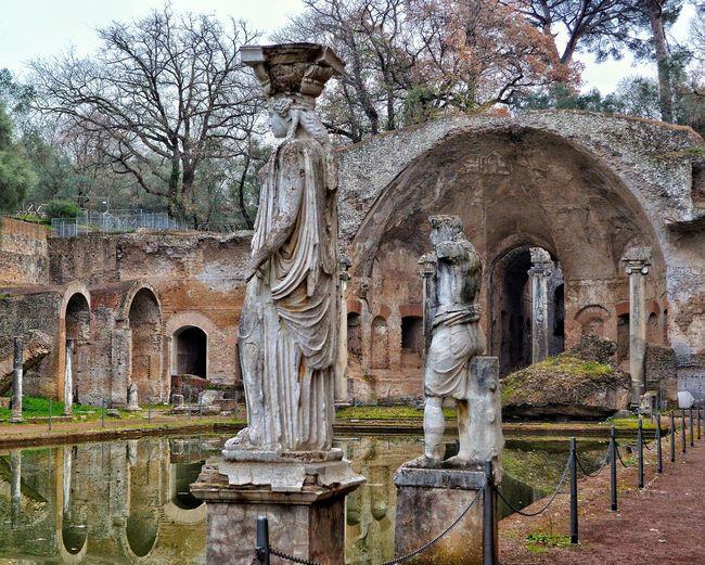 """""""Canopus"""" - Villa Adriana, Tivoli Italy Italia Statues Rome Photobydperry Tivoli Villa Adriana Pond Ancient Ancient Civilization Ancient Architecture Ancient Ruins Ruins"""