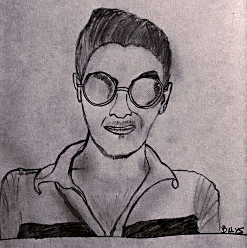 Check This Out ThatsMe Self Portrait Getting Creative Drawing That's Me Cheese! The Week Of Eyeem 12 Days Of EyeEm Eyemphotography First Eyeem Photo Paper And Pencil Eye4black&white  Blackandwhite Sketch Sketching