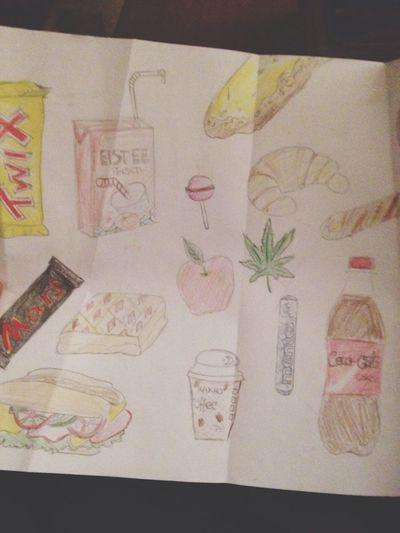 Dinge die ich täglich konsumiere - kunstprojekt ( neunte Klasse )
