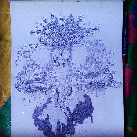Elefanti stravaganti Mydraw Drawn Likeback 100likes 30likes workinprogress followme strange elephant pencil