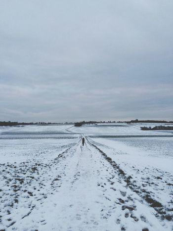 …enjoyed a snowy 5k with wife! ;-) Running #nikeplus #FromWhereIRun #winter #snow #schnee