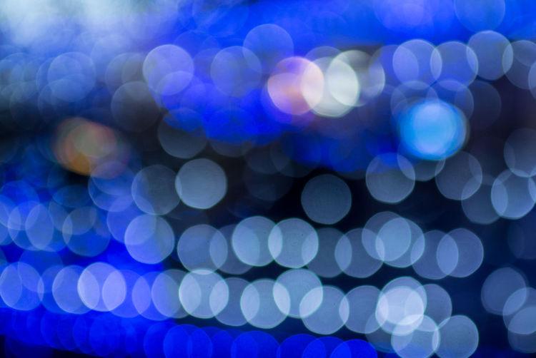 Full frame shot of defocused blue lights