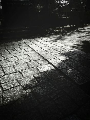 練馬区妙安寺 Temple Paving Black&white Monochrome Nerima, Japan