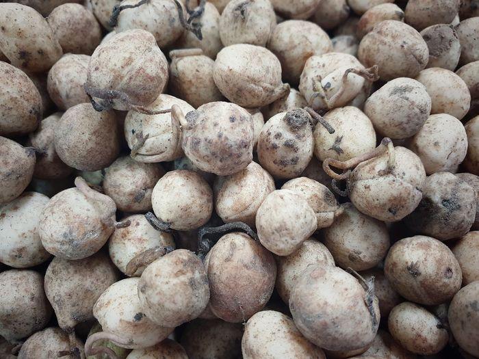 Full frame shot of potatoes for sale at market