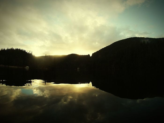 Reflektor Liquid Textures And Surfaces Lake British Columbia Reflection In The Water Forest Photography Mothernature Buntzen Lake Lakeside Lake View Lake In The Mountain Reflection Sunset Sunset_collection