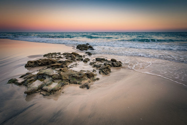 Atlantic Ocean Fuerteventura Beach Beauty In Nature Day Horizon Over Water Long Exposure Nature No People Outdoors Rock - Object Sand Scenics Sea Sky Sunset Tranquil Scene Tranquility Water Wave