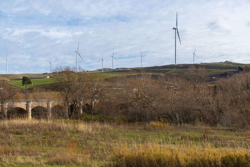 Alternative Energy Beauty In Nature Day Environment Environmental Conservation Field Fuel And Power Generation Grass Land Landscape Nature No People Non-urban Scene Outdoors Plant Renewable Energy Rocchetta Rocchetta Sant'antonio Sky Technology Turbine Wind Power Wind Turbine