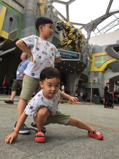 Connected By Travel Universal Studios  Sentosa Island, Singapore Brothers Favorite Movies Transformers Bumblebee The Yellow Two Sons Holiday In Singapore Surprise Gift From Neighbour