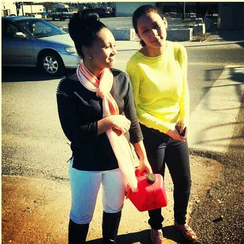me and chel earlier lol