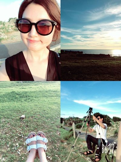 Enjoying The Sun Manzamou Beautiful Day Enjoying Life My Love Sunset Lovely Couple Okinawa Japan