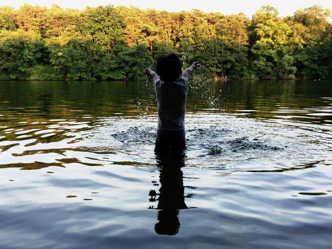 Playful Enjoyment Lake Simple Moments