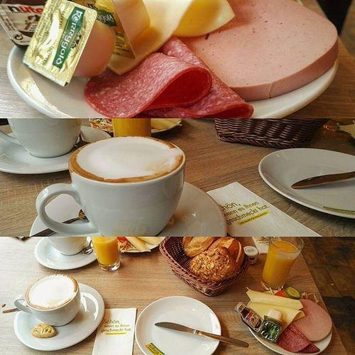 Heute morgen lecker frühstücken gewesen. 😊