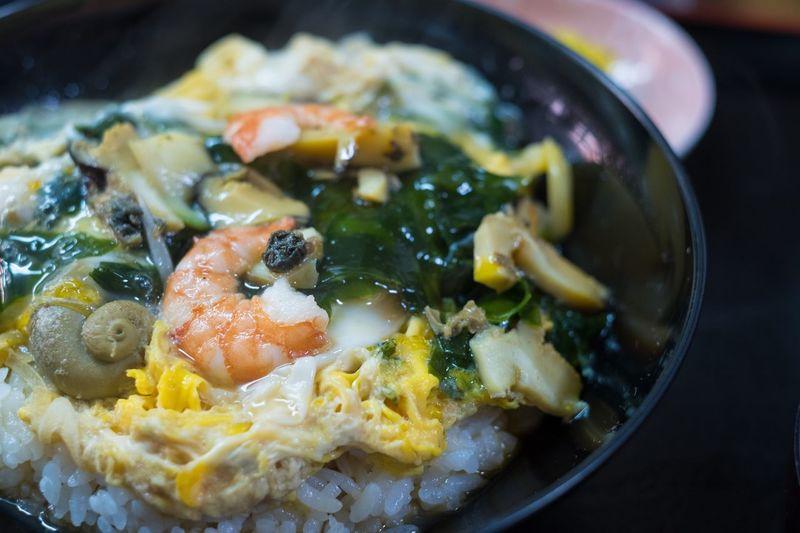 Japan Food Donburi Sazae-don Dericious