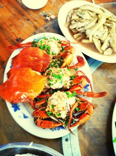 诱人大螃蟹 美食 旅行 螃蟹