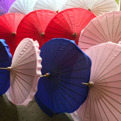 Color umbrellas EyeEm Sibonys Umbrella Protection Parasol Hand Fan Security Pattern Foldable Close-up Day Purple Red Multi Colored