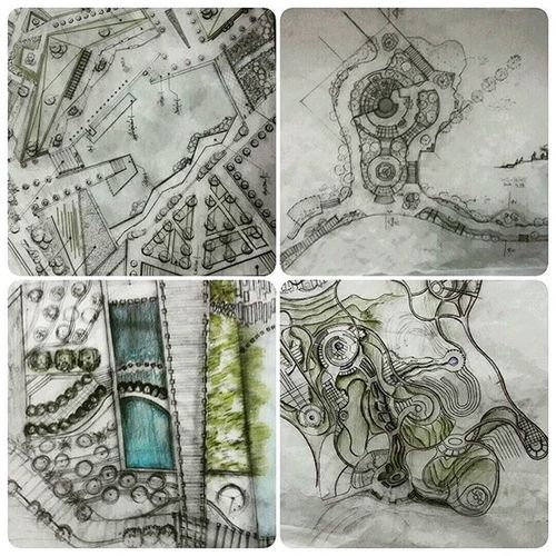 My LandscapeArchitecture Landscape Landscapedesign students Sketch Designdraft in Shahidbeheshtiuniversity . I really proud of them.