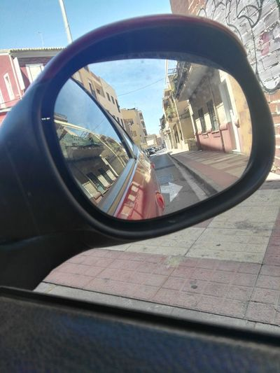 Mirror Calle ElCampello Street Streetphotography Streetphoto Campello Alicante, Spain Alicante Espejo Retrovisor Calle City Vehicle Mirror Reflection Car Mirror Sky Vehicle Street Scene Car Point Of View #FREIHEITBERLIN
