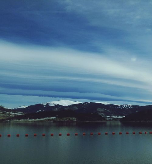 Outdoors Mountain Cloud - Sky Lake Day Nature Lenticular Cloud Clouds Sky Snow Beauty In Nature