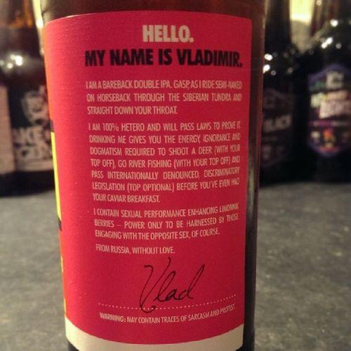 Hahahaha HelloMyNameIsVladimir NotForGays Brewdog Beer CraftBeer