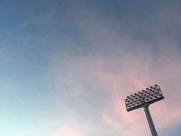 Spotlight,stadium,sky,blue sky,Run