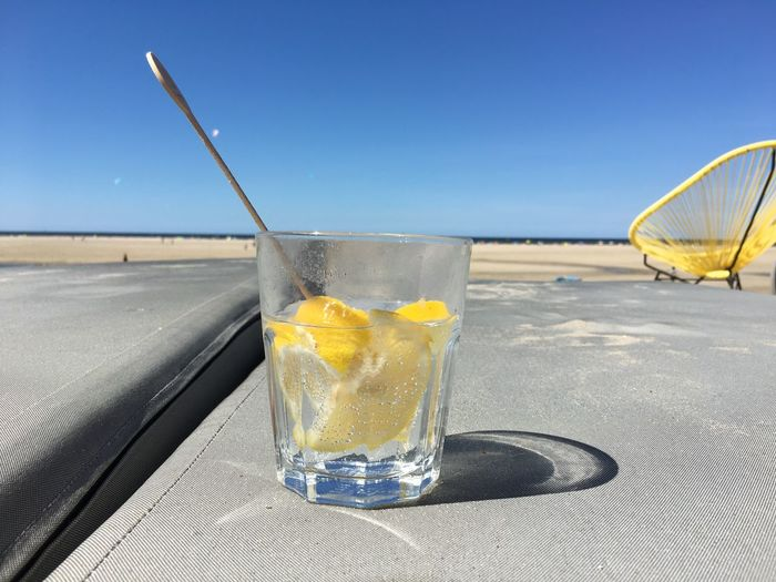 Drink Refreshment Glass Household Equipment Drinking Glass Food And Drink Water Day Cold Temperature SLICE Glass - Material Alcohol Sky Fruit