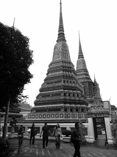 Architecture Bangkok Thailand. Blackandwhite Photography Day Jhedi Outdoors Pagodas Place Of Worship Religion Spirituality Travel Destinations Wat Pho