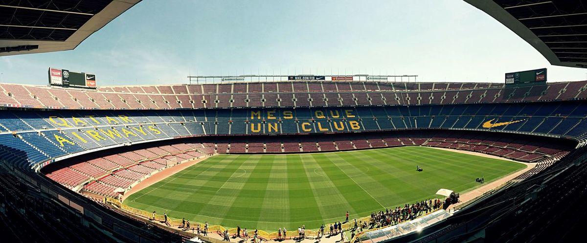Football Barcelona Stadium Camp Nou FCB Panorama