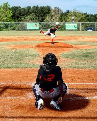 A6000 A6000sony Baseball Baseballseason Dirt Action Thereelhero SportsPhotographer Sports Catcher Pitcher Out Strike Outdoors Season  Georgia Tournament Passion Lovemyjob Love Diamomd Sandlot