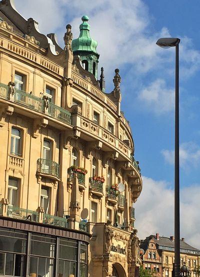 Architecture Architecture_collection Wiesbaden Palast Hotel Sunny Stil Altbau Kupferdach