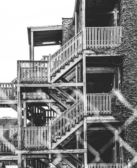 Classic Chi-town staircase Chicago Architecture Blackandwhite Building Exterior Built Structure City Day No People Outdoors Sky