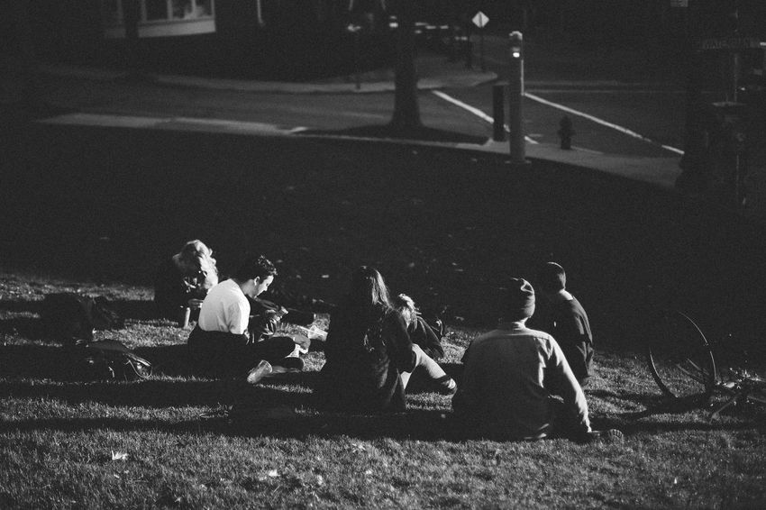 Black And White Bw Group Lifestyles My Year My View Outdoors People Sitting In A Ci Sitting Outside Street Students Togetherness