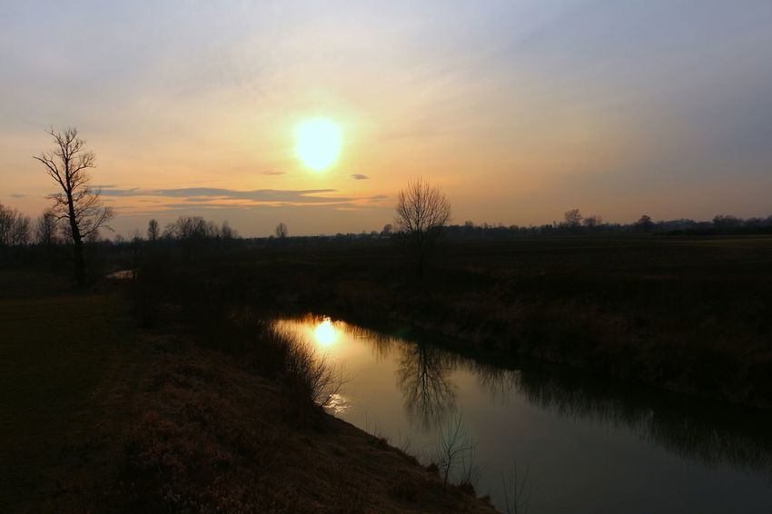 Taking PhotosTaking Photos Nature_collection Canon700D Water Reflections Watershots Beautiful Nature Sunset_collection Skystalking  Sky And Clouds