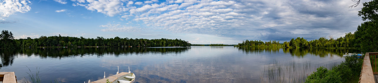 Belmont Lake, Canada Panorama Panoramic Belmont Lake State Park Canada Cloud - Sky Cottage Cottage Country Lake Reflection Tranquility Water