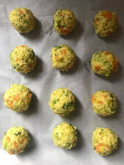 vegan meatballs Cereal Balls Veggies Healthyfood Healthy Eating Nomeatballs Vegan Food Vegan Backgrounds No People Full Frame Directly Above Close-up Multi Colored Indoors