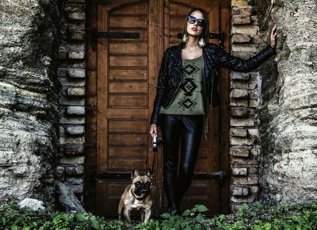 Village Wine Tourism Wine Cellar Frenchbulldog Door Brick Dog Mydog♡ Outdoors Portrait Of A Woman
