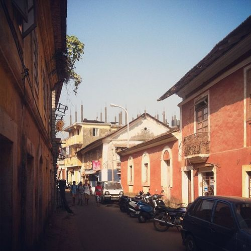 Street in the capital city of the state of Goa
