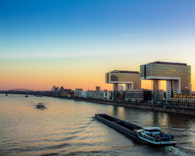 Water Architecture Building Exterior Sunset City Built Structure Outdoors Bridge - Man Made Structure Sky EyeEmNewHere Sommergefühle