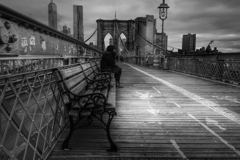 Blackandwhite New York New York City Bigapple Urban Manhattan Urbanphotography Monochrome Architecture City Newyorkcity Brooklyn Bridge / New York Brooklynbridge Architecture_collection Skyscrapers Beautiful America Travel City Life Eastriver